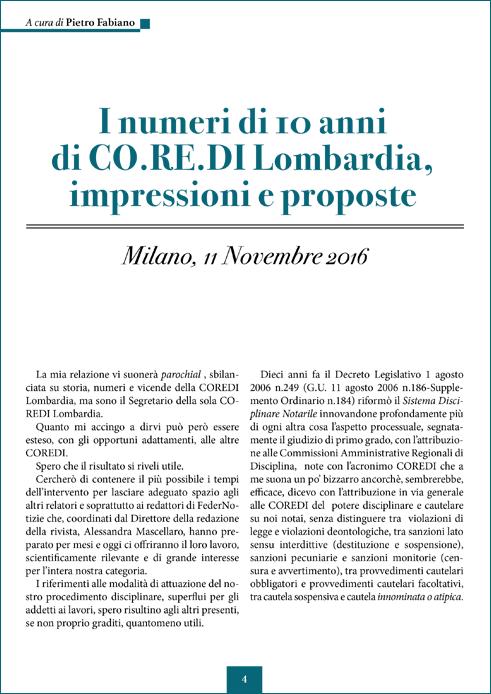 I numeri di 10 anni di CO.RE.DI Lombardia