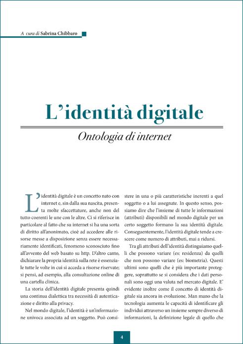 L'identità digitale - Ontologie di Internet