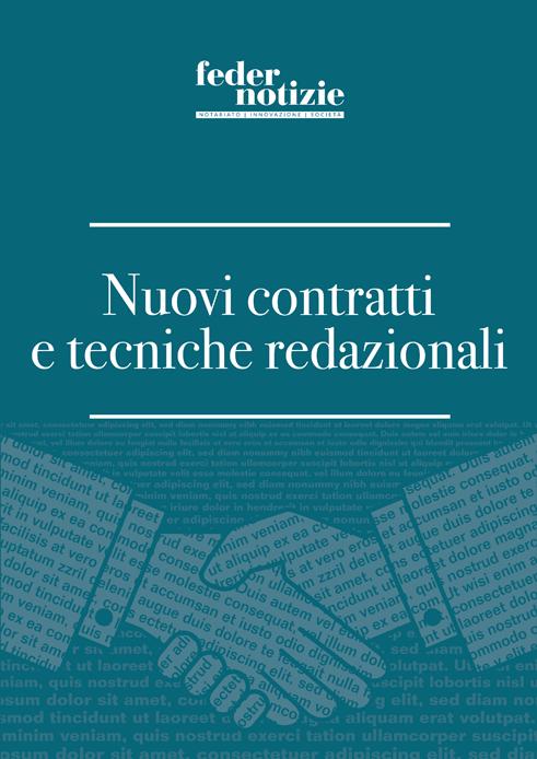 Nuovi contratti e tecniche redazionali