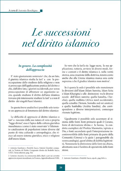 Le successioni nel diritto islamico