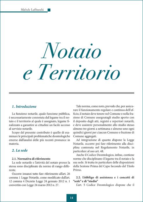 Notaio e Territorio